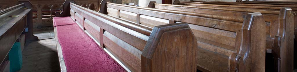 Pews In Church Sanctuary