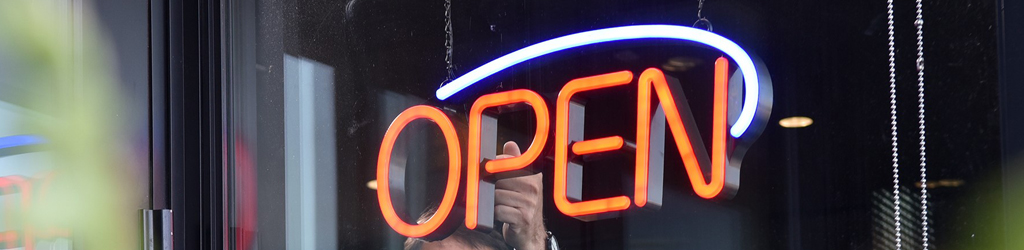 Open Sign Turning On