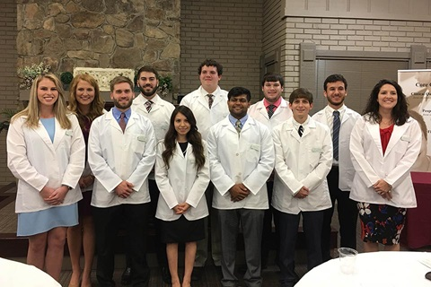 Photo of new 2017-18 students matriculation in UAB Rural Medicine Program
